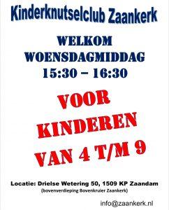 Kinderclub voor kinderen van 4 t/m 9 jaar @ Zaankerk