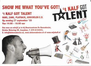't Kalf Got Talent @ Buurtcentrum De Bovenkruier